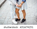 young couple black woman and... | Shutterstock . vector #651674251