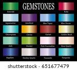set of realistic gems gradients.... | Shutterstock .eps vector #651677479
