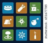 explode icons set. set of 9... | Shutterstock .eps vector #651677785