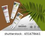 realistic vector cosmetics ... | Shutterstock .eps vector #651678661