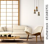 interior design modern living... | Shutterstock . vector #651681931