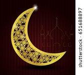 ramadan kareem glittering...   Shutterstock .eps vector #651688897