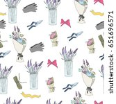 hand drawn flower shop elements.... | Shutterstock .eps vector #651696571
