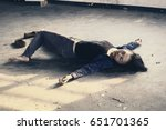 crime scene concept photo of a... | Shutterstock . vector #651701365