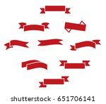 red ribbons icons | Shutterstock .eps vector #651706141