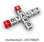 brand and customer loyalty crossword - stock photo