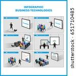 business technology  process... | Shutterstock .eps vector #651710485