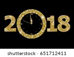 happy new year 2018  | Shutterstock .eps vector #651712411