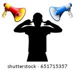 noise disturbance by two loud... | Shutterstock .eps vector #651715357