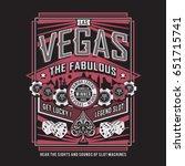 las vegas gaming poker... | Shutterstock .eps vector #651715741