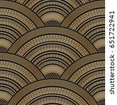 vector abstract seamless wavy... | Shutterstock .eps vector #651722941