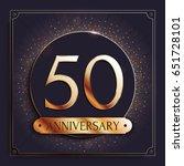 50 years anniversary gold... | Shutterstock .eps vector #651728101