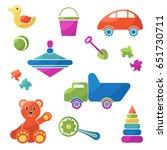 kids toys   big vector flat set | Shutterstock .eps vector #651730711