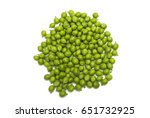 green young peas isolated on... | Shutterstock . vector #651732925