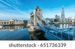 london tower bridge with skyline | Shutterstock . vector #651736339