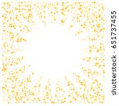 golden star burst square border ... | Shutterstock .eps vector #651737455