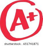 the top a  grade for exam... | Shutterstock .eps vector #651741871