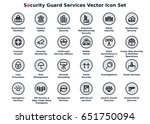 security guard services vector... | Shutterstock .eps vector #651750094