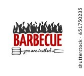 bbq vector label isolated on...   Shutterstock .eps vector #651750235
