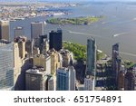 governors island off of  lower... | Shutterstock . vector #651754891