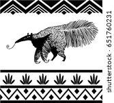 monochrome anteater placed into ... | Shutterstock .eps vector #651760231