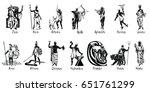 greek gods vector illustration... | Shutterstock .eps vector #651761299