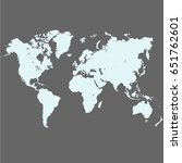 map of the world | Shutterstock .eps vector #651762601