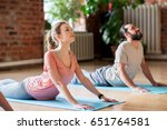 fitness  people and healthy... | Shutterstock . vector #651764581