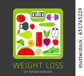 slimming concept  weight loss ... | Shutterstock .eps vector #651765229