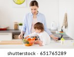 family  food  healthy eating ... | Shutterstock . vector #651765289