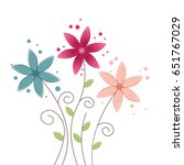 summer flower background | Shutterstock .eps vector #651767029