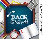back to school background | Shutterstock .eps vector #651767209