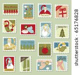 large set of christmas postage...   Shutterstock . vector #65176828