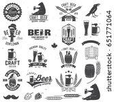 set of craft beer badges with... | Shutterstock .eps vector #651771064