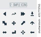 vector illustration set of... | Shutterstock .eps vector #651773761