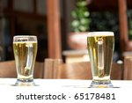 two half pint beers | Shutterstock . vector #65178481
