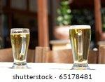two half pint beers | Shutterstock . vector #65178481