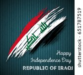 republic of iraq independence... | Shutterstock .eps vector #651787519