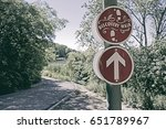 discovery walk direction sign... | Shutterstock . vector #651789967