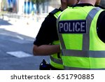 police officer on duty on a... | Shutterstock . vector #651790885