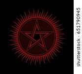 pentagram flat vector   ancient ... | Shutterstock .eps vector #651790945