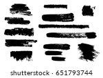 hand drawing brush stroke. set...   Shutterstock .eps vector #651793744