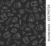 back to school doodles in... | Shutterstock .eps vector #651795724