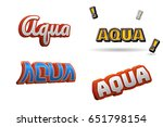 aqua text for title or headline....   Shutterstock . vector #651798154