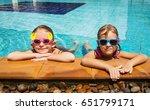 summer lifestyle portrait of... | Shutterstock . vector #651799171