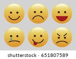 set of emoticons  icon pack ...   Shutterstock .eps vector #651807589