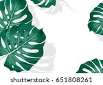 trendy summer tropical... | Shutterstock .eps vector #651808261