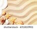 summer beach. summer background. | Shutterstock . vector #651810901