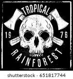 skull t shirt graphic design | Shutterstock .eps vector #651817744