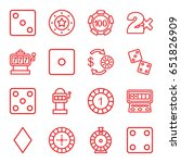 chance icons set. set of 16... | Shutterstock .eps vector #651826909